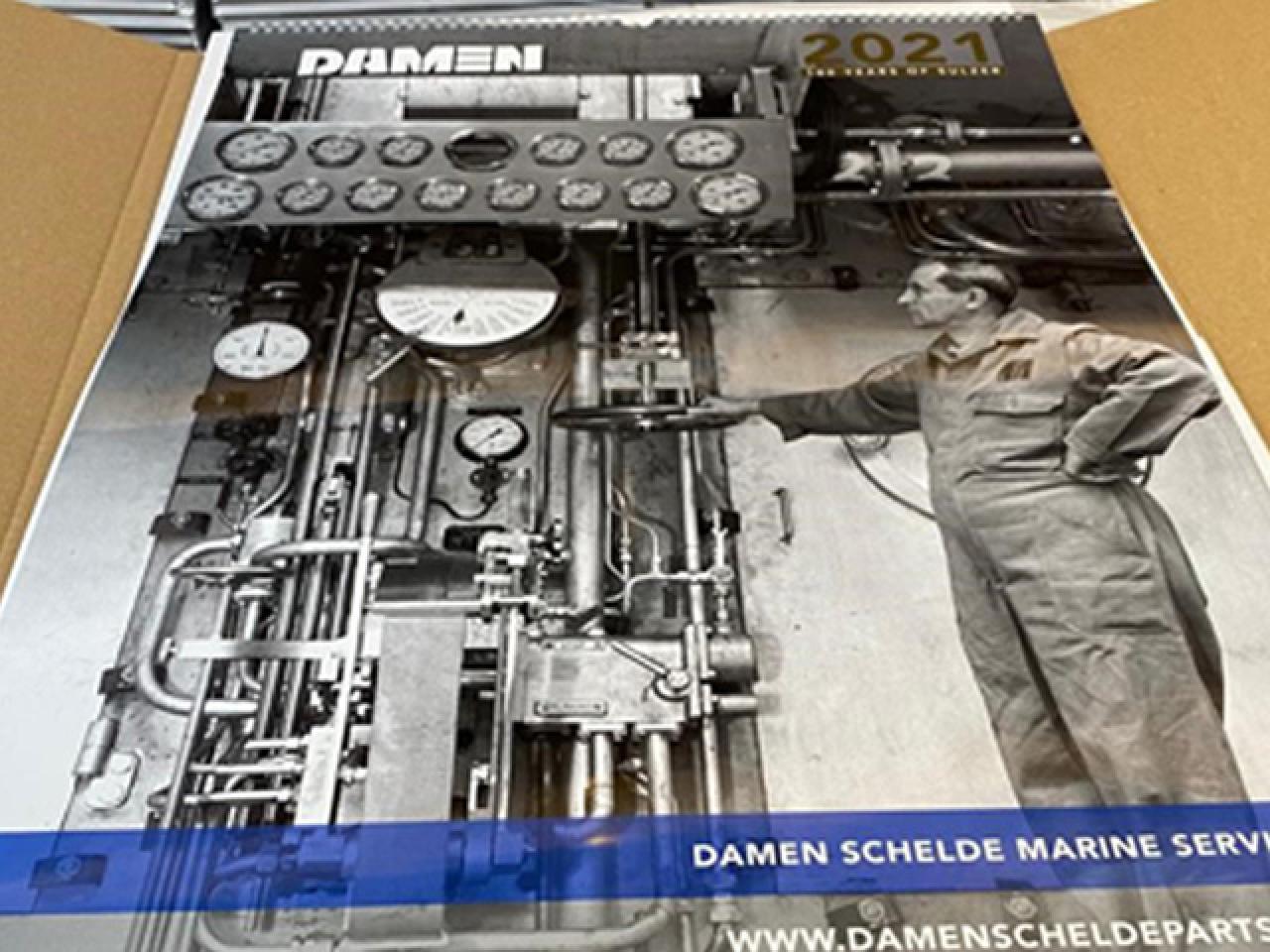 Damen Schelde Marine Services calendar 2021